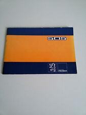 PEUGEOT 505 Manuale USO e MANUTENZIONE Libretto ORIGINALE OWNERS MANUAL Autobook