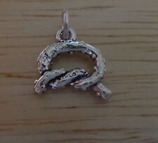 Sterling Silver 13x11mm Small Salted Pretzel Food Charm