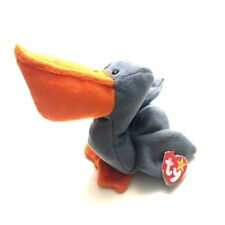 TY Beanie Babies Plush Scoop The Pelican Blue Orange New with tags