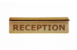 Wooden Reception Sign Ideal For Functions, Offices and Workplaces