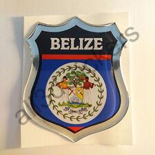 Pegatina Belice 3D Escudo Emblema Vinilo Adhesivo Resina Relieve Coche Moto