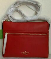 NWT Kate Spade Jackson Street Gabriele Leather Crossbody Bag Red Carpet PXRU7922