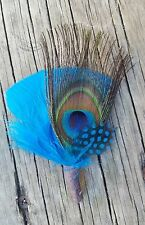 Feather hat band, Button hole,  men's gift, fedora hat stick,  lapel boutonniere