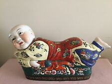 Antique chinese pillow headres statue with tongzhi dynasty mark