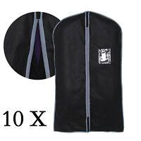 10x New Set Of Blk Peva Garment Suit Covers Clothes Dress Shirt Cover Travel Bag