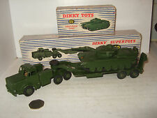 Dinky supertoys 660 thornycroft antar tank transporter & 651 centurion tank
