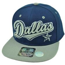 Dallas City Town Navy Blue Flat Bill Hat Cap Snapback Star Texas TX USA Big D
