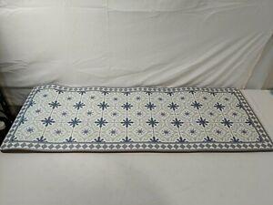 "Kitchen Floor Comfort Mat for Standing 45.5"" x 17.5"" Blue/Green -PreOwned Return"