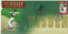 GRENADA WISDEN 2000 CRICKET SIR VIVIAN RICHARDS 1v FIRST DAY COVER No 4 of 4