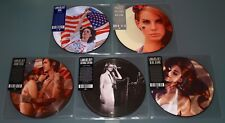 "LANA DEL REY 5x 7"" PICTURE DISC Lot VIDEO GAMES BLUE JEANS ANTHEM BORN RIDE New"
