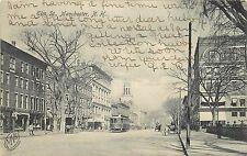 Vintage Postcard Elm st. Scene Manchester NH Hillsborough County