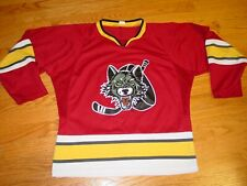 Youth Boys Girls L Chicago Wolves Hockey Jersey Medium Red Kids