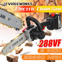 288VF 8'' Electric Cordless One-Hand Saw Chain Saw Woodworking Wood Cutter  °