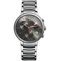 Rado Men's Watch Centrix Chronograph Black Dial Silver Tone Bracelet R30122103