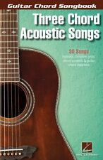 Three Chord Acoustic Songs Sheet Music Guitar Chord SongBook NEW 000123860