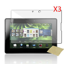 3pcs Ultra Smooth Clear Screen Protector Film for RIM Blackberry Playbook Tablet