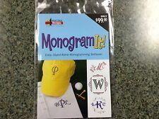 Amazing Designs Monogram It! Embroidery Lettering Software Plus Bonus!