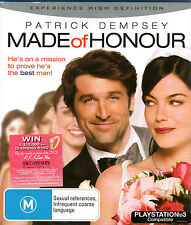 MADE OF HONOUR Bluray Patrick Dempsey Michelle Monaghan *New/Sealed* Honor