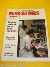 INVESTORS CHRONICLE - RISE & FALL OF ALAN BOND - JULY 21 1989