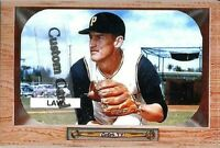 VERN LAW PITTSBURGH PIRATES 1955 STYLE CUSTOM MADE BASEBALL CARD BLANK BACK