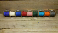 """Deerskin Deer Leather Lace Spool Roll 1/4"""" x 25 FT Lacing Cord String Craft F-3"""