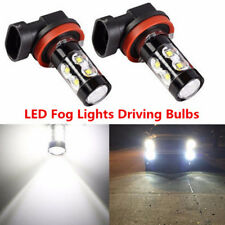 2x 50W H11 H8 H9 High Power 12V 6000K Xenon White LED Fog Lights Driving Bulbs
