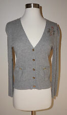 Juicy Couture Gray Cardigan Sweater ( Size: Petite / XS )