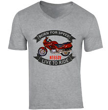 HONDA NT650V - NEW COTTON GREY V-NECK TSHIRT