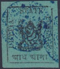 India Feud State Duttia ½ Anna Green (Type II) Mint Stamp - SG 8bc - £45/$60
