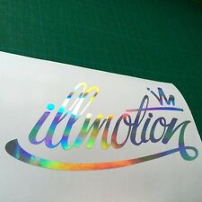 Illmotion MAREA nera fuoriuscita Chrome Decalcomania Sticker JDM Euro Paraurti Finestrino Auto Van