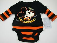 New listing Disney Store Mickey Mouse 1st Halloween One Piece Bodysuit Romper New Size 3-6M