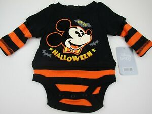 Disney Store Mickey Mouse 1st Halloween One Piece Bodysuit Romper NEW Size 3-6M