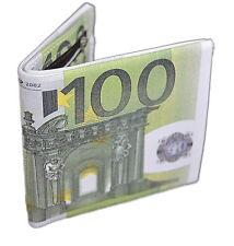 Men Wallet Credit Card Holder 100 Euro Money Slim Pocket Bifold PU Leather. 0127