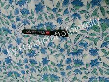 5 yards length hand block print cotton fabric garden flower fashion Fabric green