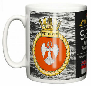 HMS Victorious Ceramic Mug, Vanguard Class Strategic Submarine Pennant S29