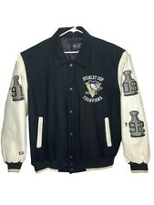 Pittsburgh Penguins 3 Time Stanley Cup Champions Letterman Jacket NHL Hockey