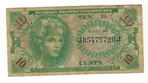 USA 10 cents Military Payment, series 641. USED, see scans.