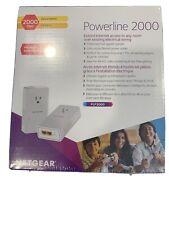 Brand New NETGEAR Powerline Adapter 2000 Mbps (2) Gigabit Ethernet Ports,PLP2000