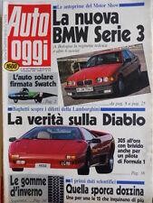 Auto OGGI n°210 1990 difetti Lamborghini Diablo - BMW Serie 3  [Q200]