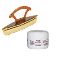 Supernail Nail Buffing Cream 0.5oz with Chamois Buffing Buffer 5 inch Combo
