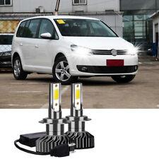 FITS VW TOURAN 2003+ 2x H7 BULLET Kit Car LED Headlight Bulbs PURE WHITE 6500K