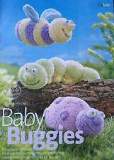 KNITTING PATTERN Alan Dart Baby Buggies Caterpillar Bee Ladybird Toys 25cm Long