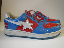 BAPESTA MARVEL COMICS 10 Captain America Sneakers Shoes 2005 Red White Blue