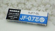 Box of 10 pcs ZEBRA ROLLERBALL REFILL  JF-0.7 BLUE Model RJF7-BL