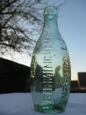 6oz SKITTLE FLAT BASE HAMILTON MINERAL WATER BOTTLE THE BIRMINGHAM SYPHON CO