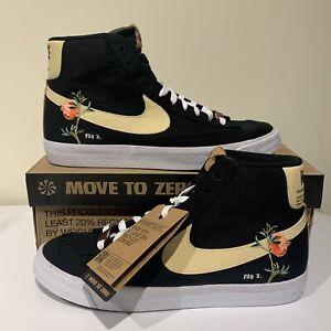NEW Nike Blazer Mid 77 Pomegranate Floral Black Men's Size 10 CI1166-001
