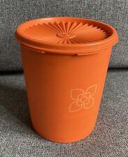 More details for vintage tupperware harvest orange servalier sunburst container biscuit barrel