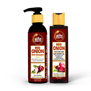 The Indie Earth Red Onion Anti Hair Loss & Hair Growth Oil & Shampoo Combo