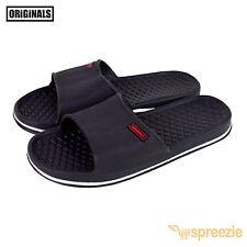 Black Men's Sandals Sport Slides Beach Slippers House Shoes Slip On Footwear New