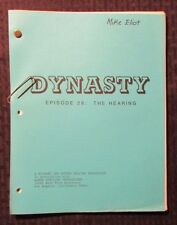 1981 DYNASTY 12/14/81 TV Script #26 The Hearing Final Draft FN 46 pgs